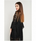 Embroidered gather dress