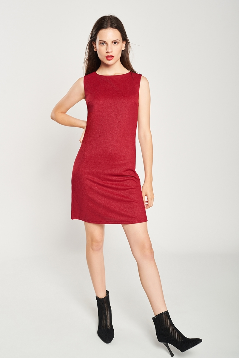 Elastic Glitter Dress