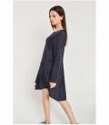 Asymmetric embossed dress