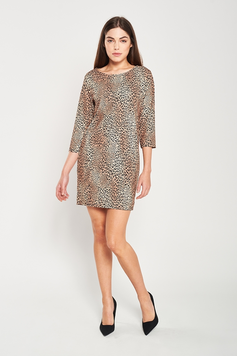 Peach Leopard Dress