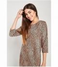 Vestido melocotón  leopardo