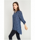 Maho neck print blouse