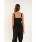 Cropped jumpsuit with straps