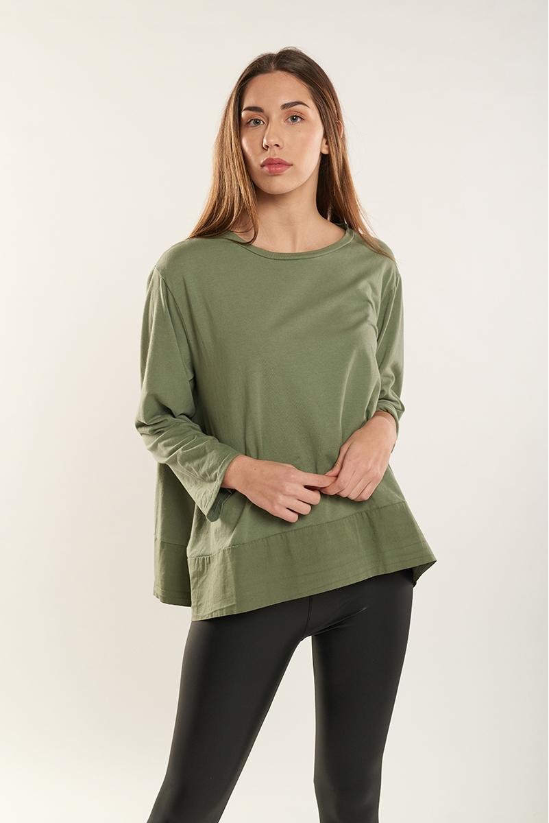 Combined fine sweatshirt