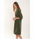 Flowy dress with adjustable waist