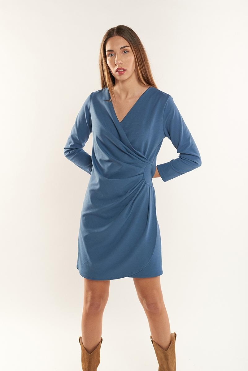 Draped sheath dress