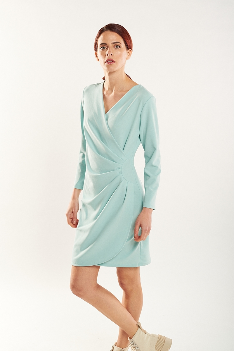 Draped sheath dress