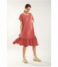 Long flared maxi dress