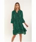 Green leopard dress
