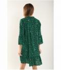 Vestido leopardo verde