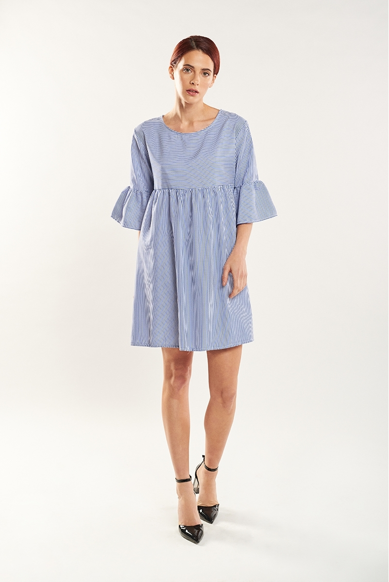 Poplin babydoll dress