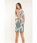 Geometric draped dress