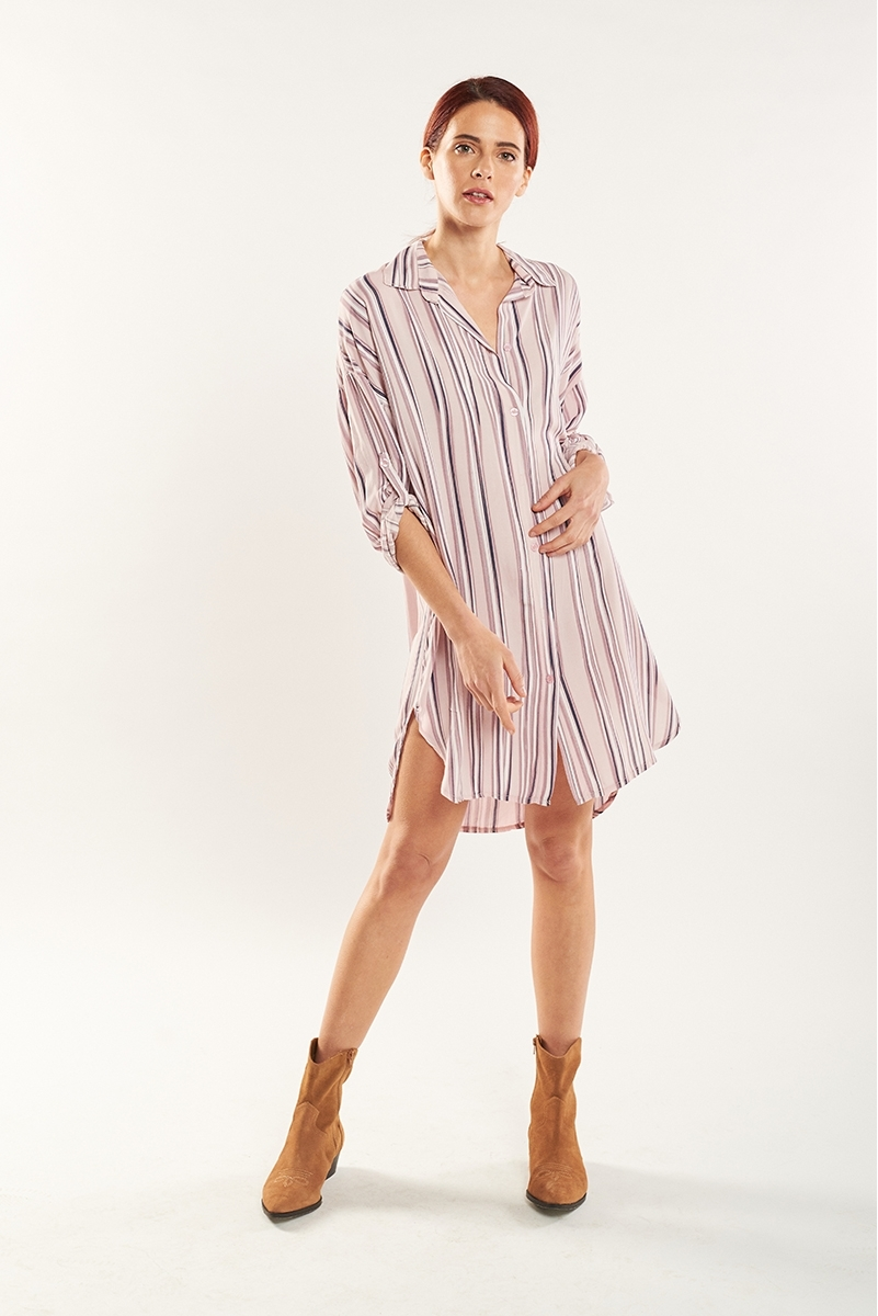 Oversized striped tunic
