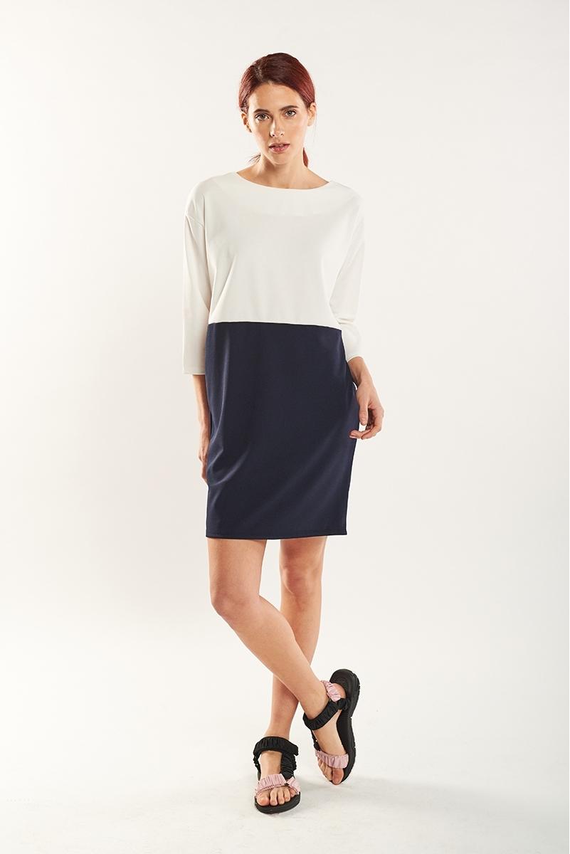 Combined midi dress