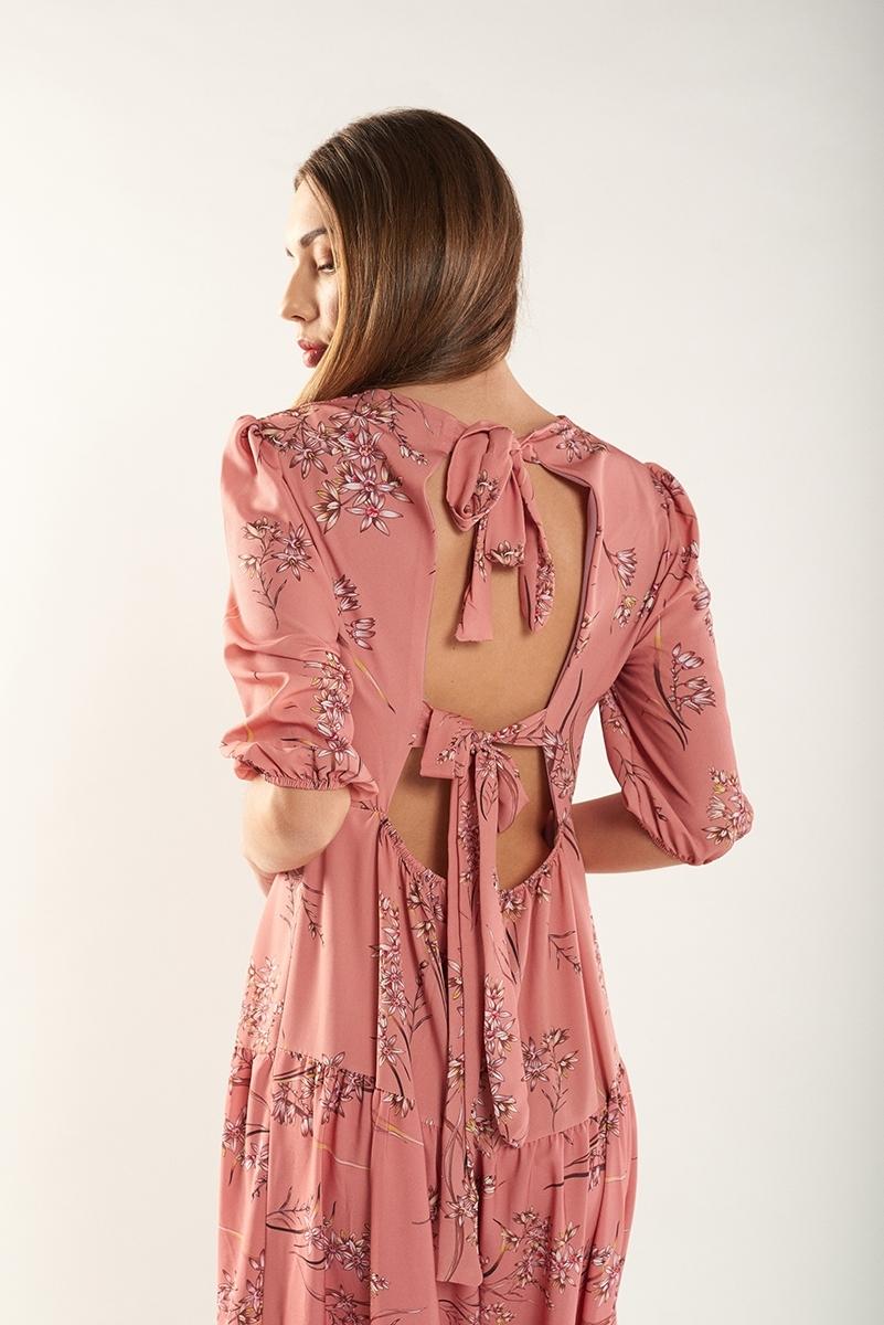 Vestido largo espalda abierta
