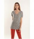 Animal print knit top