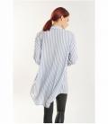 Oversized striped tunic