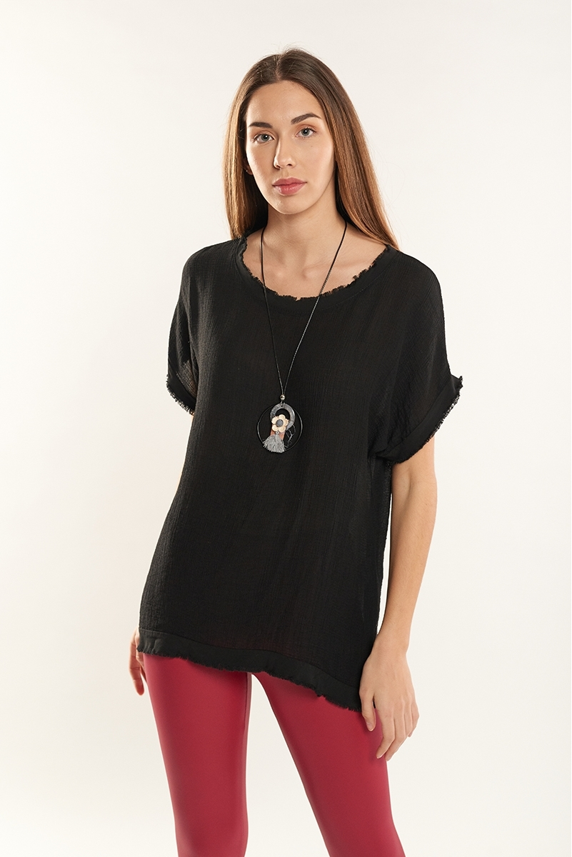 Frayed top necklace