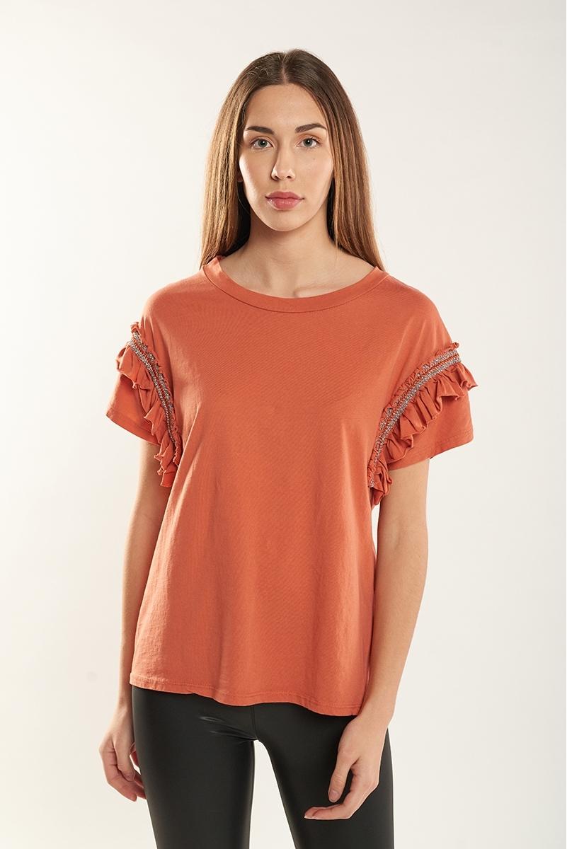 Camiseta volantes brillo