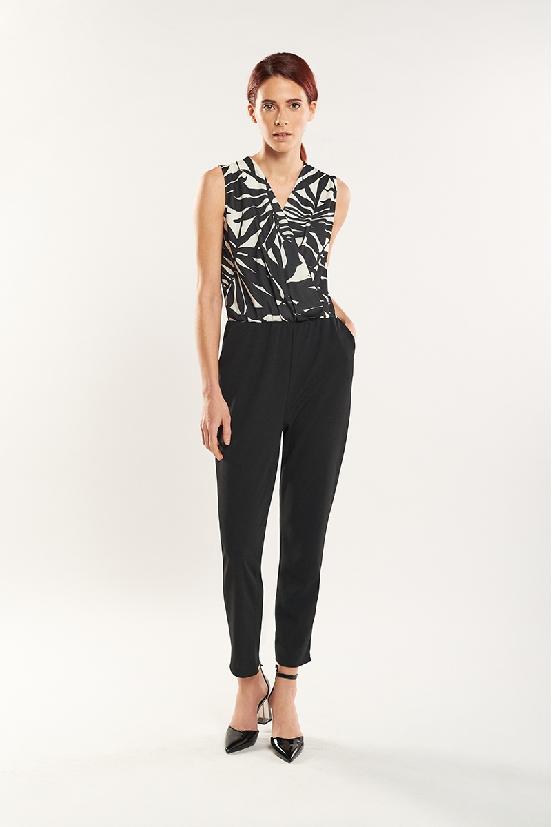Two-piece effect jumpsuit