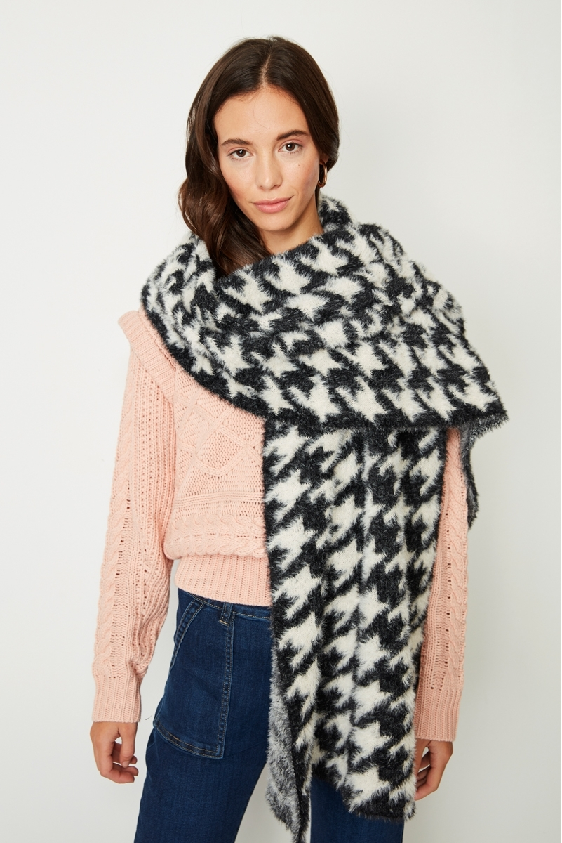 VICHY CHECKED MAXI SCARF