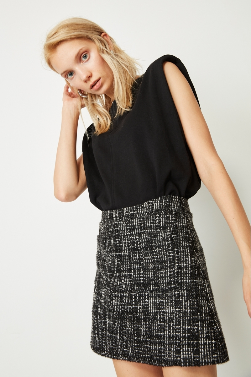 MINI TWEED SKIRT