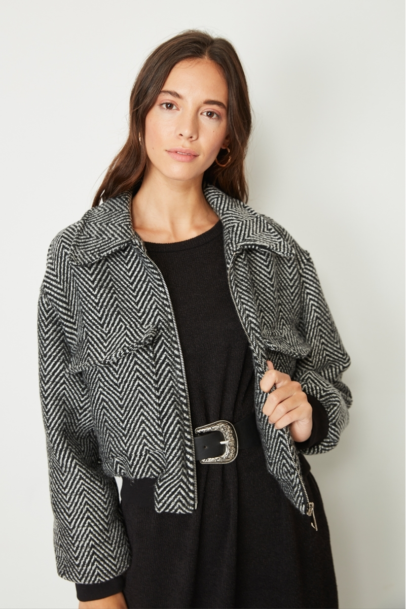 TWEED HERRINGBONE JACKET
