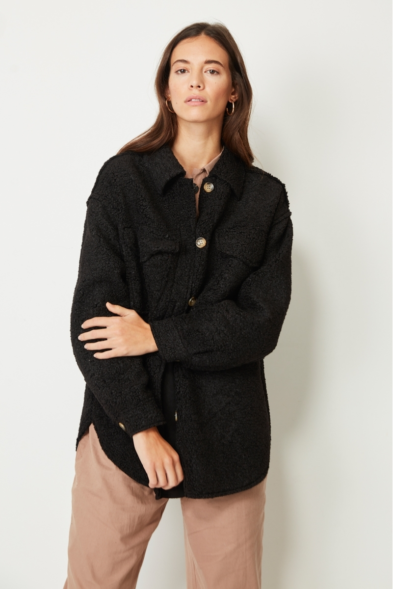 TEXTURED OVERSHIRT