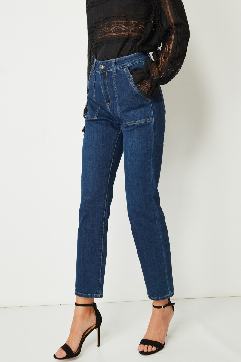 JEAN PREMIUM STRAIGHT PATCH POKET