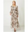 EYELETS BELT DRESS