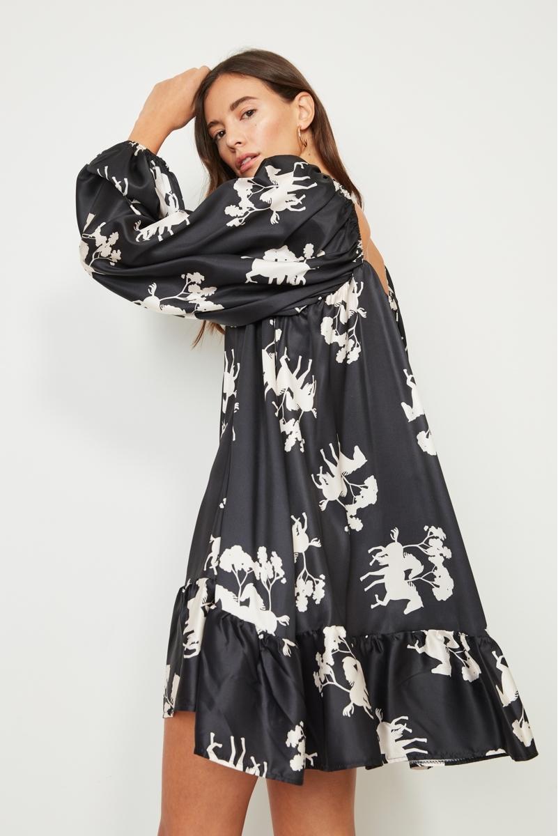 PRINTED FLUID DRESS