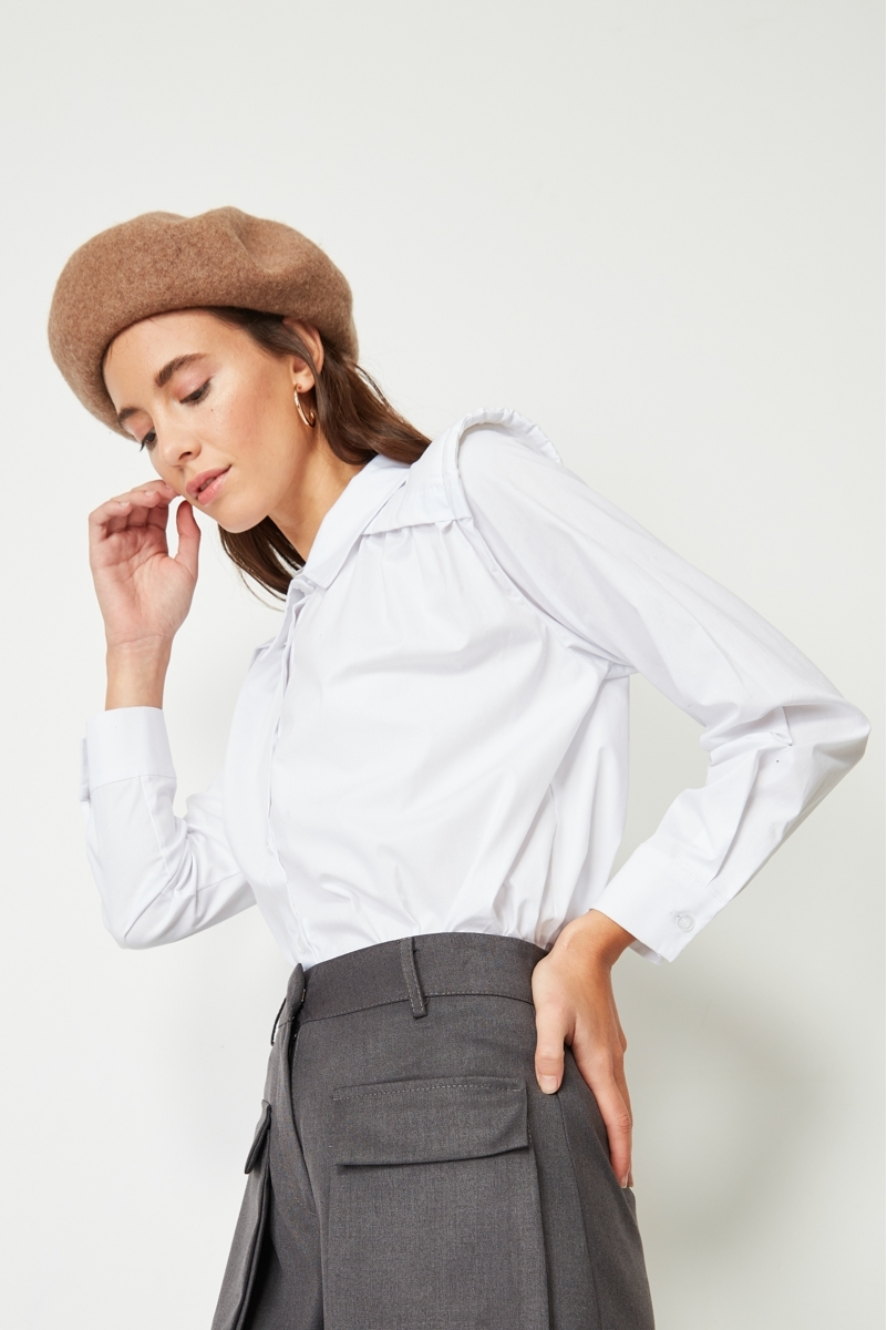 SHOULDER POPLIN SHIRT