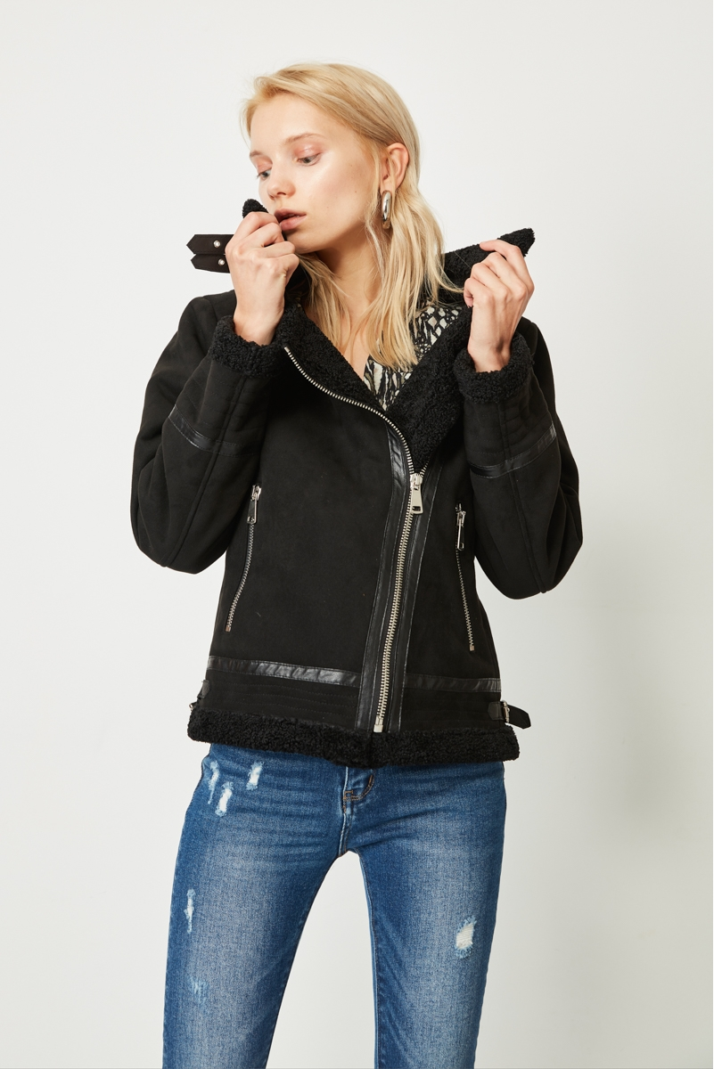 DOUBLE-SIDED SUEDE JACKET