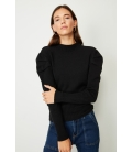 PUFF SLEEVE KNIT SWEATER