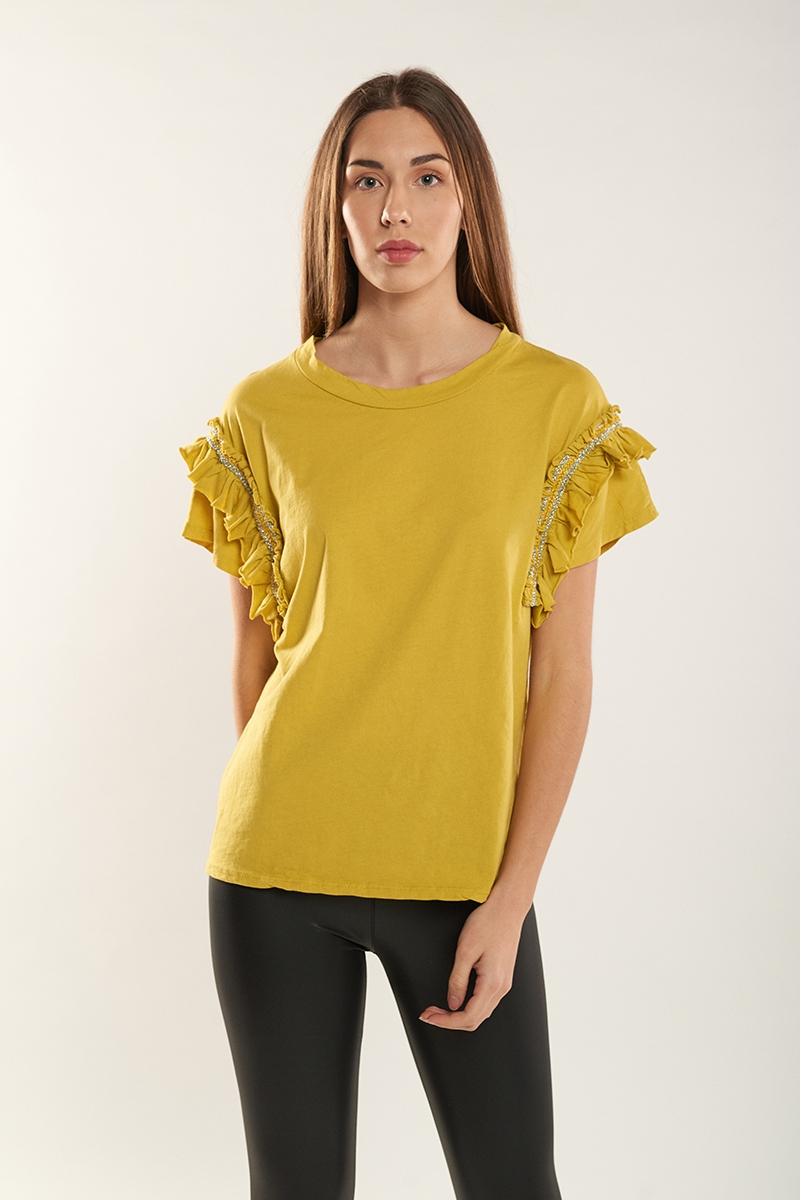 Glitter ruffle t-shirt